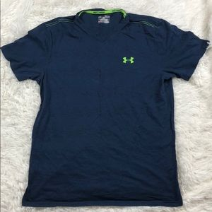 UNDER ARMOUR Heatgear Loose Fit Blue T-Shirt M